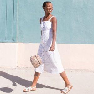 64d8ebaab2 J. Crew Dresses - Jcrew button front white denim midi dress